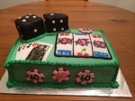 Casino-themed birthday cake (Taylor Made Sweets and Treats)