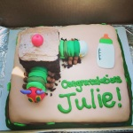 Very Hungry Caterpillar baby shower cake (Taylor Made Sweets and Treats)