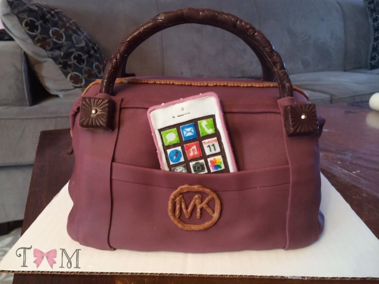 Michael Kors purse cake (Taylor Made Sweets and Treats)