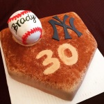 Baseball-themed birthday cake (Taylor Made Sweets and Treats)