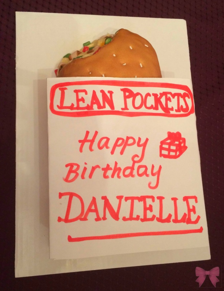 Lean Pocket replica cake by Taylor Made Sweets and Treats