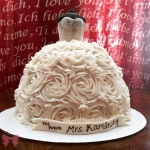 Wedding dress bridal shower cake by Taylor Made Sweets and Treats