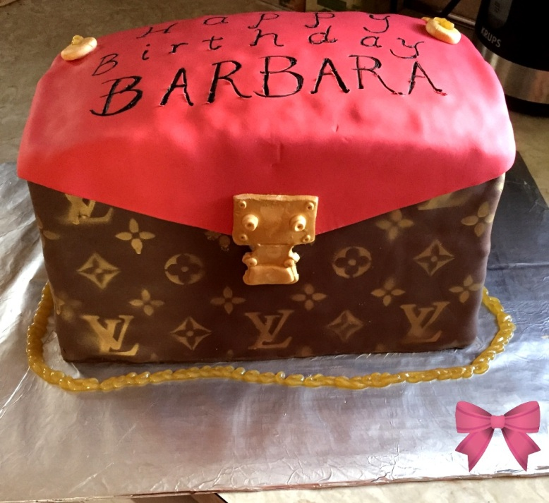 Louis Vuitton purse cake by Taylor Made Sweets & Treats